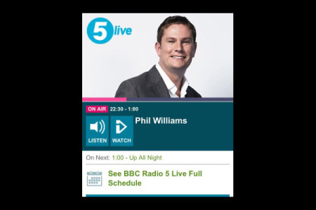 Moving InWards Features On BBC Radio 5 Live
